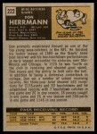 1971 Topps #222  Don Herrmann  Back Thumbnail