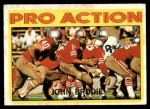 1972 Topps #124   -  John Brodie Pro Action Front Thumbnail