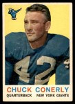 1959 Topps #65  Charley Conerly  Front Thumbnail