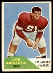 1960 Fleer #28  Joe Amstutz  Front Thumbnail