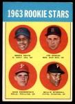 1963 Topps #553   -  Willie Stargell / Jim Gosger / Brock Davis / John Herrnstein Rookie Stars Front Thumbnail