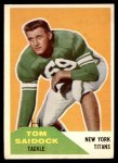 1960 Fleer #64  Tom Saidock  Front Thumbnail