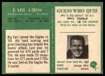 1966 Philadelphia #137  Earl Gros  Back Thumbnail