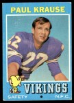1971 Topps #158  Paul Krause  Front Thumbnail