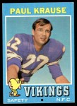 1971 Topps #158  Paul Krause  Front Thumbnail