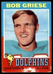 1971 Topps #160  Bob Griese  Front Thumbnail