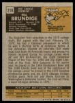 1971 Topps #216  Bill Brundige  Back Thumbnail