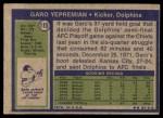 1972 Topps #115  Garo Yepremian  Back Thumbnail