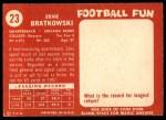 1958 Topps #23  Zeke Bratkowski  Back Thumbnail