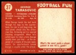 1958 Topps #37  George Tarasovic  Back Thumbnail
