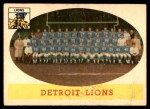 1958 Topps #115   Lions Team Front Thumbnail