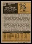 1971 Topps #262  Jack Concannon  Back Thumbnail