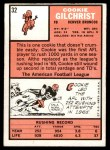 1966 Topps #32  Cookie Gilchrist  Back Thumbnail