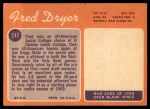 1970 Topps #247  Fred Dryer  Back Thumbnail