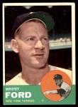 1963 Topps #446  Whitey Ford  Front Thumbnail