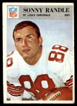 1966 Philadelphia #165  Sonny Randle  Front Thumbnail