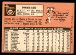 1969 Topps #364  Tommie Agee  Back Thumbnail