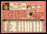 1969 Topps #264  Bill Landis  Back Thumbnail