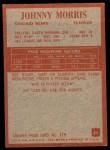 1965 Philadelphia #23  Johnny Morris   Back Thumbnail