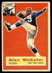 1956 Topps #5  Alex Webster  Front Thumbnail