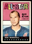 1967 Topps #130   -  Don Marshall All-Star Front Thumbnail