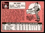 1969 Topps #117  Jim Fairey  Back Thumbnail
