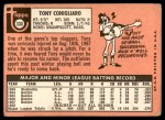 1969 Topps #330  Tony Conigliaro  Back Thumbnail