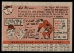 1958 Topps #63  Joe Nuxhall  Back Thumbnail