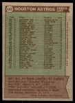 1976 Topps #147   -  Bill Virdon Astros Team Checklist Back Thumbnail