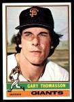 1976 Topps #261  Gary Thomasson  Front Thumbnail