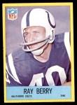 1967 Philadelphia #14  Ray Berry  Front Thumbnail