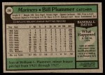1979 Topps #396  Bill Plummer  Back Thumbnail