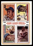1974 Topps #2   -  Hank Aaron Special 1954-57 Front Thumbnail