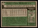 1979 Topps #364  Gene Richards  Back Thumbnail