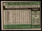 1979 Topps #428  Bobby Valentine  Back Thumbnail