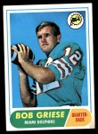 1968 Topps #196  Bob Griese  Front Thumbnail