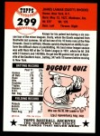 1953 Topps Archives #299  Dusty Rhodes  Back Thumbnail