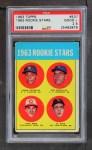 1963 Topps #537   -  Pete Rose / Al Weis / Ken McMullen / Pedro Gonzalez   #537 Rookie Stars Front Thumbnail