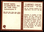 1967 Philadelphia #111  Clarence Childs  Back Thumbnail