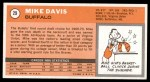 1970 Topps #29  Mike Davis   Back Thumbnail