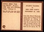 1967 Philadelphia #195   Atlanta Falcons Back Thumbnail