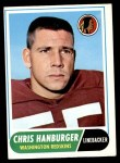 1968 Topps #62  Chris Hanburger  Front Thumbnail