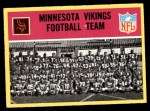 1967 Philadelphia #97   Minnesota Vikings Team Front Thumbnail