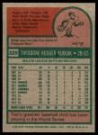 1975 Topps #329  Ted Kubiak  Back Thumbnail