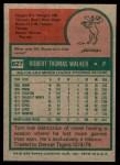 1975 Topps #627  Tom Walker  Back Thumbnail