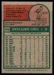 1975 Topps #266  Sandy Alomar  Back Thumbnail