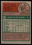 1975 Topps #512  Larry Milbourne  Back Thumbnail