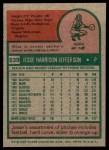 1975 Topps #539  Jesse Jefferson  Back Thumbnail