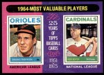 1975 Topps #202   -  Brooks Robinson / Ken Boyer 1964 MVPs Front Thumbnail
