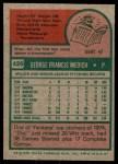 1975 Topps #426  Doc Medich  Back Thumbnail